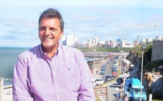 Sergio Massa presenta a sus referentes de Mar del Plata. Foto: La Capital