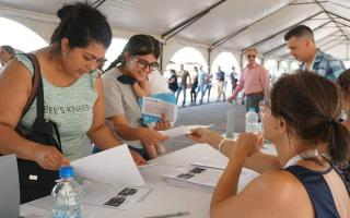 la Universidad Nacional de La Matanza recibió a miles de beneficiarios.