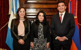 La diputada Josefina Mendoza, nueva presidenta del Grupo parlamentario de Amistad con Armenia