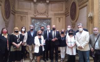 En Cancillería homenajearon a Osvaldo Mércuri, el fallecido parlamentario del Mercosur