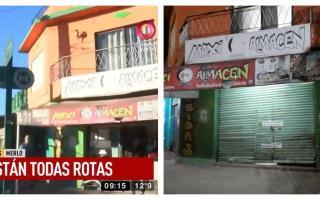 El almacén del Barrio Matera que fue clausurado.