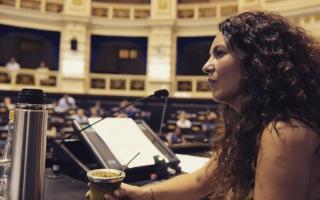 Merquel celebró la media sanción a la Ley Micaela. Foto: Prensa