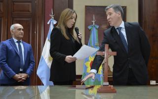 Vidal le tomó juramento al nuevo ministro de economía de la Provincia.