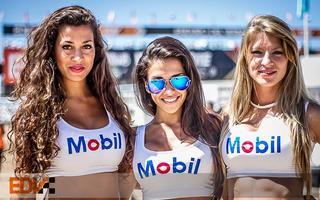 Las promotoras de Mobil le pusieron color al EDV. Foto: EDVoficial