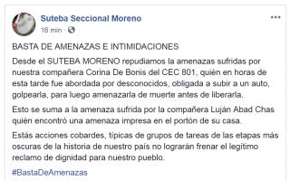Grave denuncia en Moreno: Secuestran y torturan a una docente