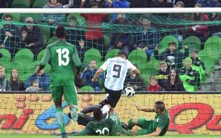 El gol de Aguero: Foto: AFP