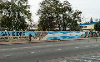 San Isidro: Se inauguró mural en homenaje a excombatientes de Malvinas
