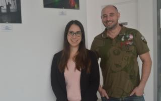 Natalia Calienni y Jorge Montanari son autores del primer trabajo que logra encapsular el fármaco Vismodegib en un nanosistema. FOTO: CONICET Fotografía.