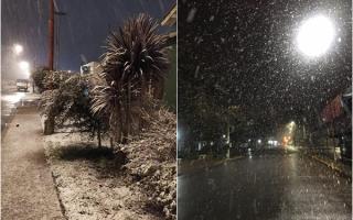 Ciudades bonaerenses amanecieron nevadas