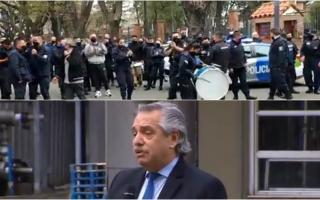 Policías se concentraban en la Quinta de Olivos: El presidente habló en Quilmes
