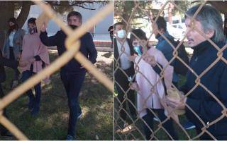 Kirchner con los trabajadores del Frigorífico Penta