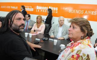 Baradel y Petrocini se reúnen con Pérez en La Plata.