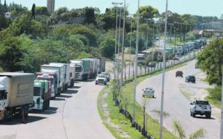 Paro de transportistas - Foto ambito