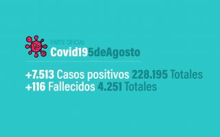 El parte de la situación del Coronavirus en Argentina del día 6 de agosto.