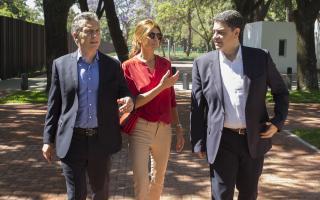 Jorge y Mauricio Macri inauguraron el Paseo de la República en la Quinta de Olivos