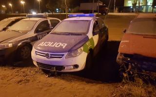 Así están los patrulleros en Ostende. Foto: Pinamar24