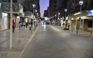 Peatonal Alsina en Bahía Blanca.