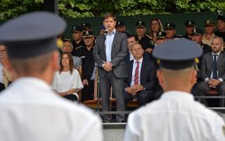 """Kicillof, con Berni y Frederic: """"Necesitamos una policía profesionalizada y profundamente democrática"""""""