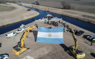 Coronel Suarez: Inauguraron obra hidráulica más importante del sudoeste de la Provincia