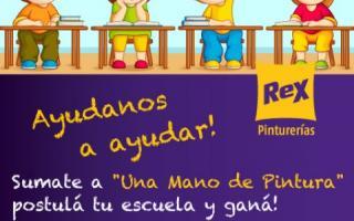 """Comenzó la campaña solidaria de Pinturerías Rex """"Una Mano de Pintura para tu Escuela"""""""