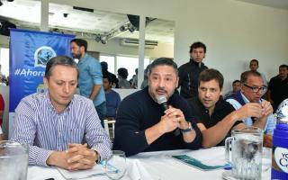 Cumbre del PJ en Costa del Este: Estuvieron Pablo Moyano y Baradel