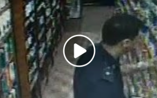 Video: Poliladron desafectado tras ser descubierto en robo en supermercad