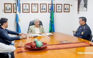 Colón: El intendente Casi recibió a las nuevas autoridades policiales