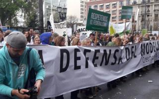 Nueva protesta de farmacéuticos bonaerenses.