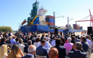 """Inauguración oficial del Puerto TecPlata con el arribo de """"Jacarandá"""" (Foto: BA_Producción)"""