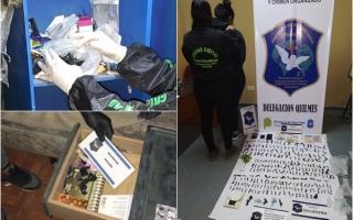 Quilmes: Cuatro detenidos por venta de cocaína y marihuana