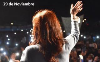 Cristina Kirchner en Quilmes, tras suspender el acto antes de las elecciones para ir Cuba