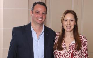 Francisco Ratto, intendente electo junto a María Eugenia Vidal