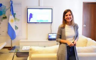 La directora ejecutiva de la ANSES, Fernanda Raverta