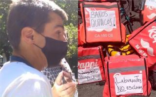 Federico López es uno de los trabajadores que encabeza los reclamos contra la app Rappi en Mar del Plata.