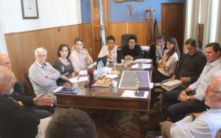Reunión junto al intendente Fioramonti
