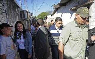 La Ministra de Seguridad María Cecilia Rodríguez y el Secretario de Seguridad Sergio Berni, supervisaron operativos este lunes en Rosario.