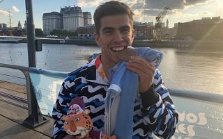Valentín Rossi, de San Pedro, ganó medalla de bronce en canotaje
