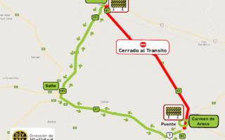 Corte en Ruta 51: Cerrada al tránsito entre Arrecifes y Carmen de Areco
