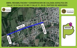 """""""Pavimentación y Rehabilitación de Calzada Asfáltica"""" enMercedes"""