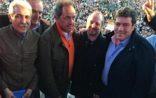 Aníbal Fernández, Aldo Carossi, Daniel Scioli, Martín Sabbatella y Gabriel Mariotto.