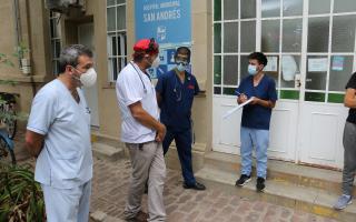 Las aplicaciones en total fueron poco más de 300 en el vacunatorio del Hospital San Andrés. (Foto: Municipio)