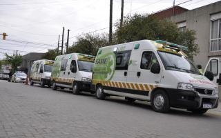 Las tres ambulancias completamente equipadas serán puestas en funciones dentro de las próximas 48 horas