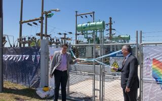 San Cayetano: Inauguraron repotenciación de la estación transformadora