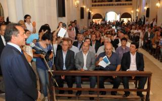 Scioli encabezó el acto en la Iglesia de La Plata.