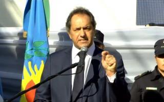 Scioli encabezó el acto en Pilar.