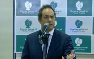 En su discurso, Scioli se refirió a los Fondos Buitres.