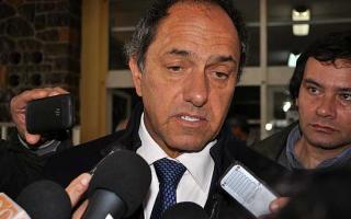 Scioli anunció el desdoblamiento del Ministerio de Justicia y Seguridad.
