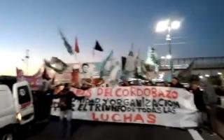 Cortes y reclamos en Puente La Noria. Foto: Captura de pantalla.