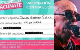 El Indio Solari contó que se vacunó contra el coronavirus en Provincia
