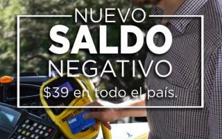Con la nueva suba del transporte, el nuevo saldo negativo de la SUBE es de 39 pesos
